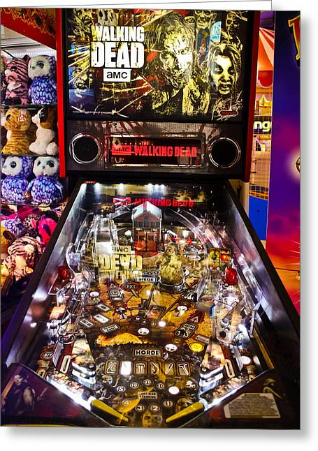 Game Greeting Cards - Pinball - The Walking Dead Greeting Card by Colleen Kammerer