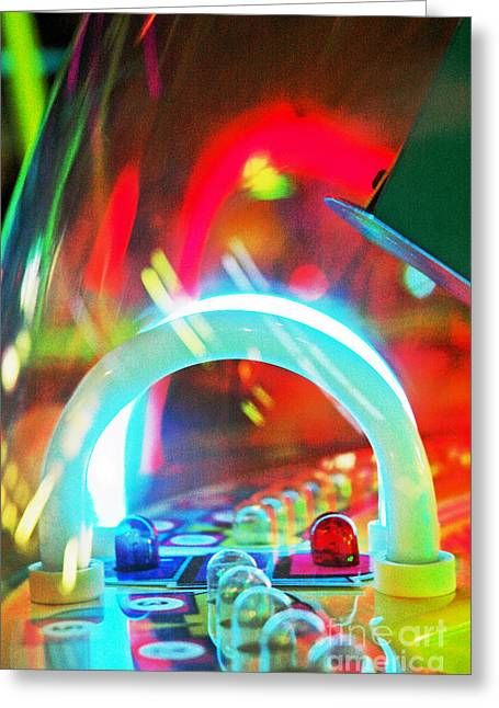 Fancy Eye Candy Greeting Cards - Pinball Wizard Greeting Card by Anahi DeCanio