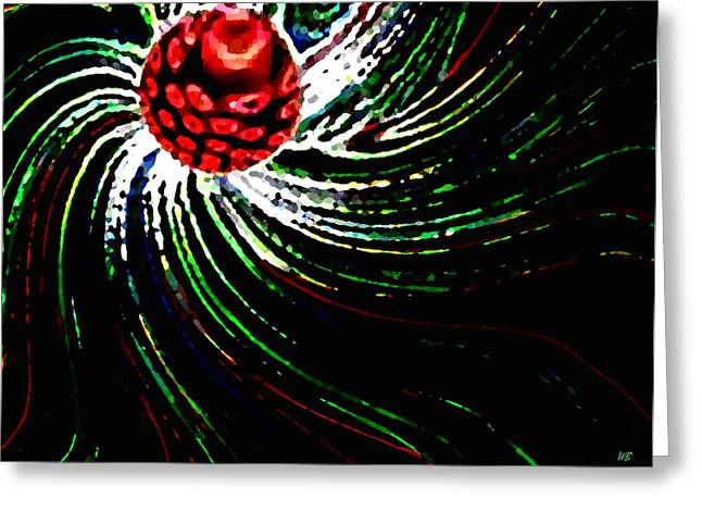Pine Cones Digital Greeting Cards - Pine Cone Abstract Greeting Card by Will Borden