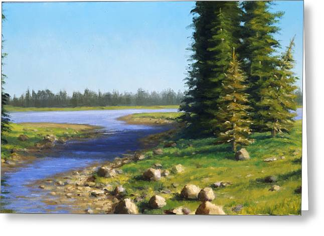 Boundary Waters Paintings Greeting Cards - Pine Inlet Greeting Card by Rick Hansen