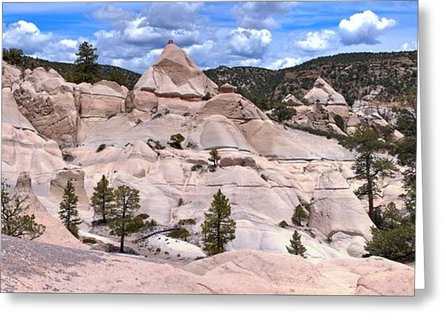 Southern Utah Greeting Cards - Pine Park Tent Rock Panorama Greeting Card by Adam Jewell