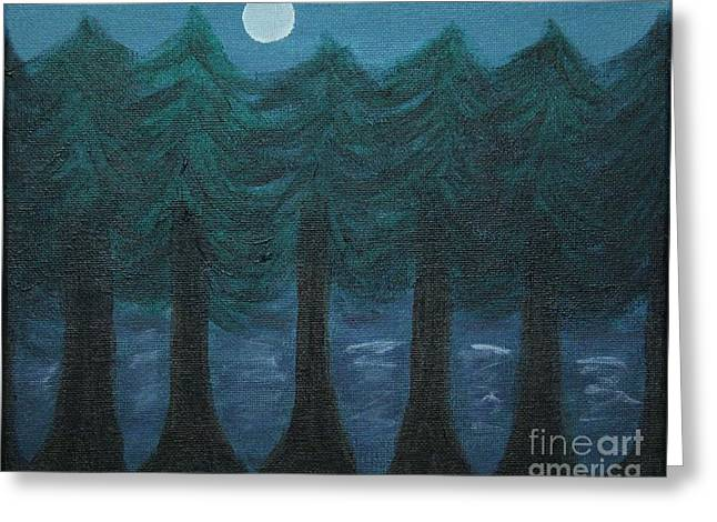 Pine Tree Lake Greeting Card by Marina McLain