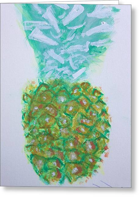 Pineal Pineapple Greeting Card by Contemporary Michael Angelo