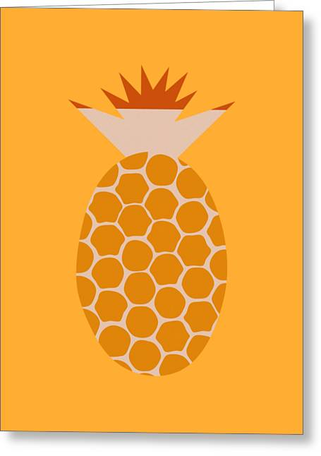 Pineapple Greeting Card by Frank Tschakert