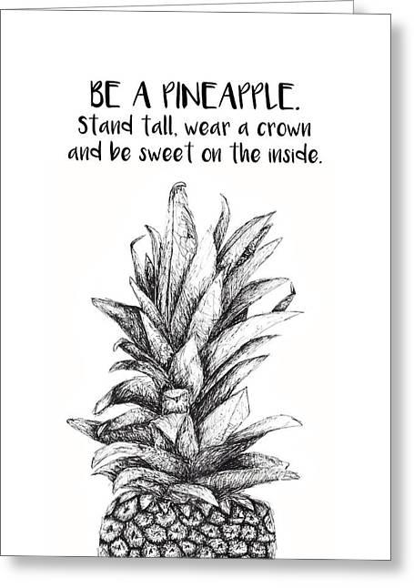 Pineapple Greeting Card by Nancy Ingersoll