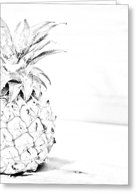 Pineapple Pyrography Greeting Cards - Pineapple Greeting Card by Olga Photography