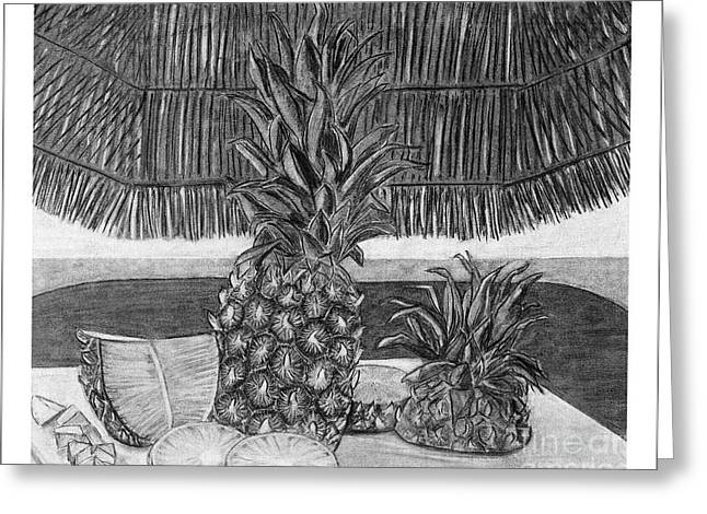 Pineapple Greeting Card by Tracy Pickett