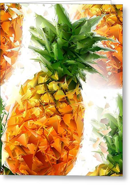 Pineapple Triangles Greeting Card by Chris Butler