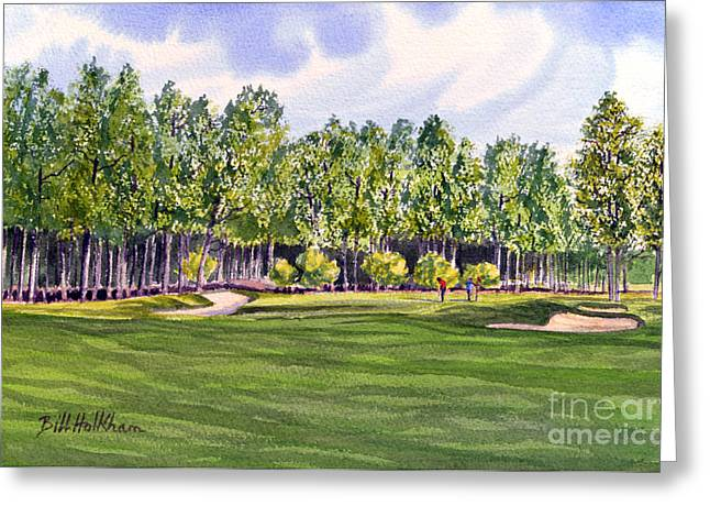 Undulating Greeting Cards - Pinehurst Golf Course 17TH Hole Greeting Card by Bill Holkham