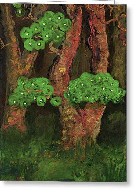 Polscy Malarze Greeting Cards - Pines by the Brook Greeting Card by Anna Folkartanna Maciejewska-Dyba