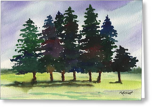 Pines Greeting Cards - Piney Woods Greeting Card by Marsha Elliott