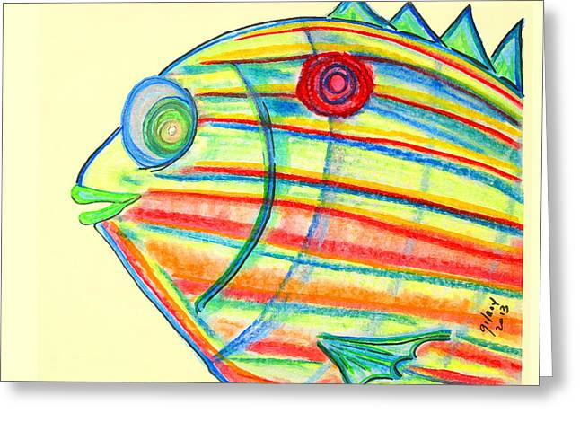 Melbourne Beach Greeting Cards - Pinfish Greeting Card by W Gilroy