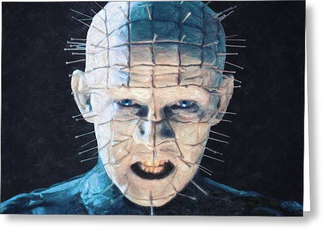 80s Paintings Greeting Cards - Pinhead Greeting Card by Taylan Soyturk