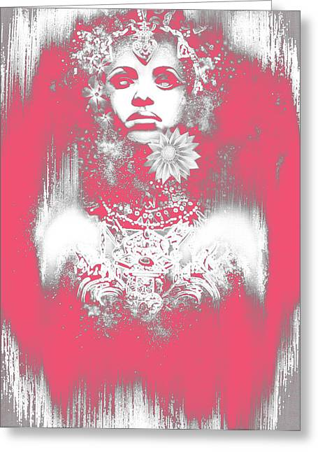 Anne Rice Greeting Cards - Pink Akasha Greeting Card by Michael Gibbs