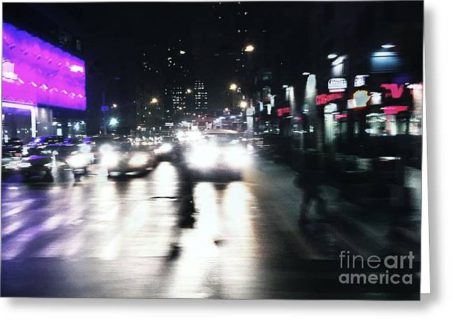 Crosswalk Greeting Cards - Pink Ambiance Greeting Card by Angelo Merluccio