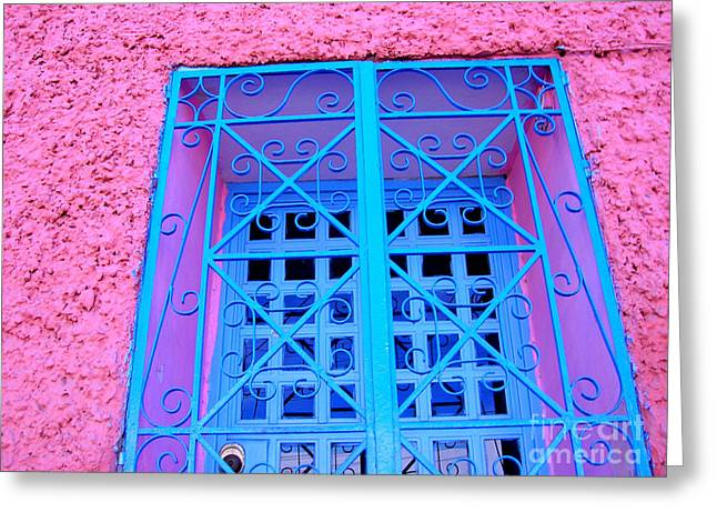 Pink and Blue by Michael Fitzpatrick Greeting Card by Olden Mexico