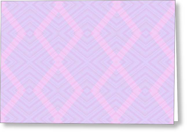 Abstract Digital Photographs Greeting Cards - Pink and Magenta Geometry Greeting Card by Lena Kouneva