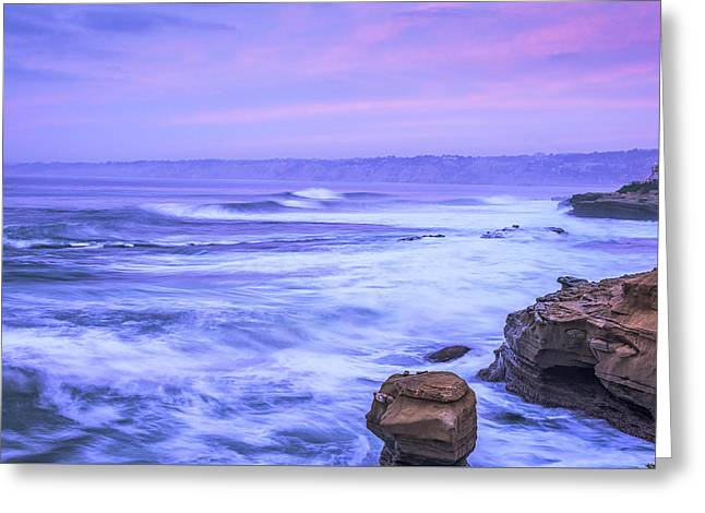 Colorful Cloud Formations Greeting Cards - Pink and Purple Greeting Card by Joseph S Giacalone
