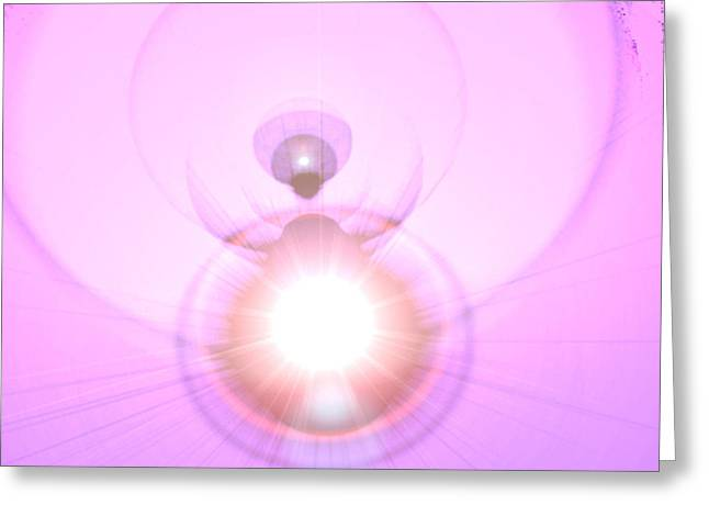 Anjo Greeting Cards - Pink Angel-Light Greeting Card by Ramon Labusch