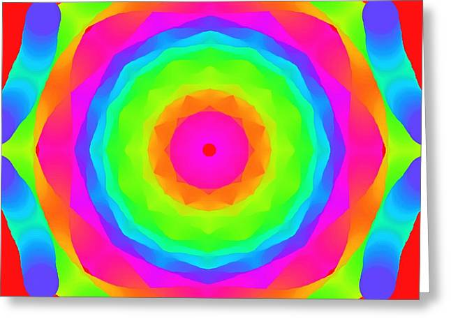 Abstract Digital Paintings Greeting Cards - Pink Ball Greeting Card by Floyd Snyder