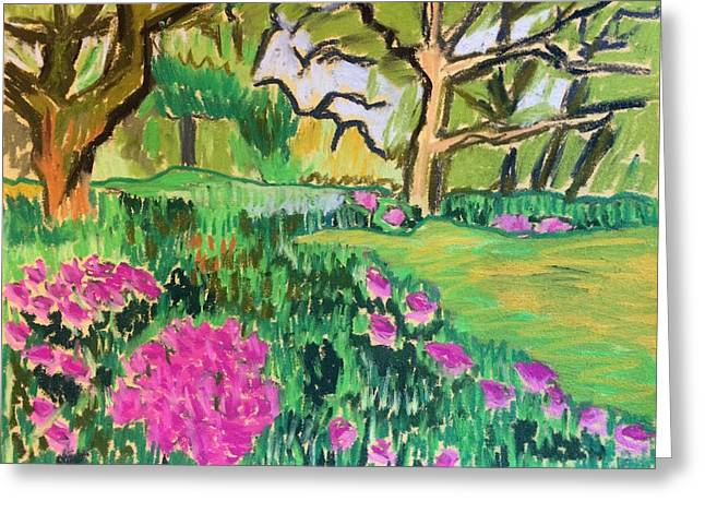 Pink Blossoms Pastels Greeting Cards - Pink Blossoms Greeting Card by Tim Bruneau