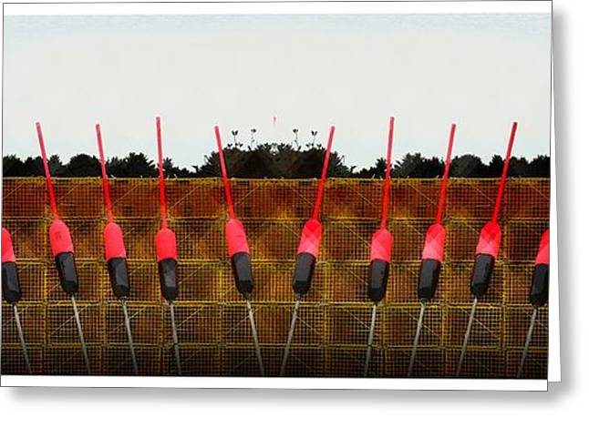 Decorative Fish Greeting Cards - Pink Buoys Greeting Card by Marcia Lee Jones