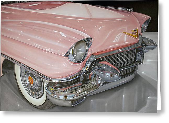 Pink Caddy Greeting Card by Vic Vicini