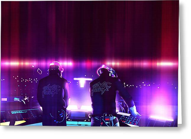 Pink Daft Punk - 61 Greeting Card by Jovemini ART