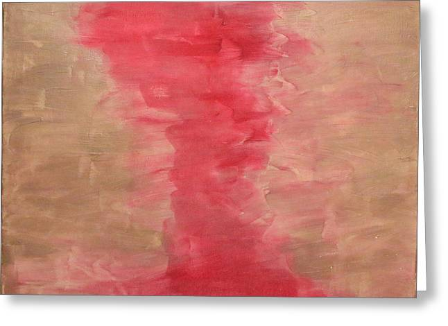 Abstract Movement Greeting Cards - Pink Dance Greeting Card by Lydia Simpson