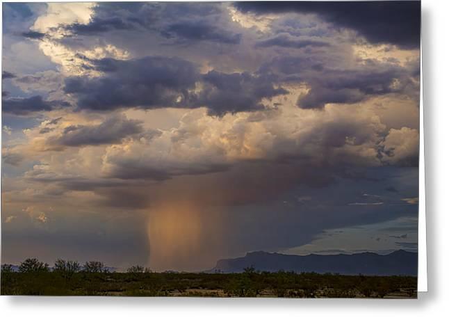 Pink Desert Rain  Greeting Card by Saija  Lehtonen