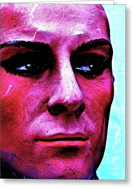 Brimfield Greeting Cards - Painted Face Greeting Card by Andre Brown
