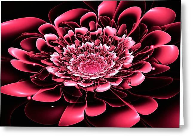 Pink Flower Greeting Card by Anastasiya Malakhova