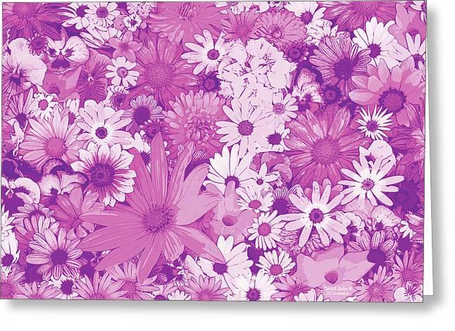 Home Decor Photography Greeting Cards - Pink Flowers Greeting Card by JQ Licensing