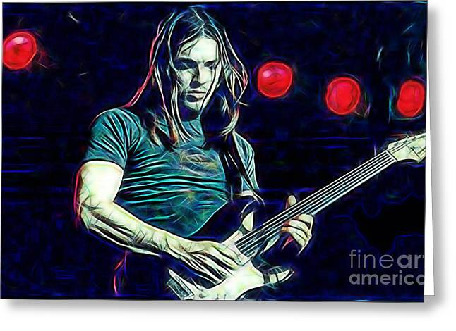 Pink Floyd Greeting Cards - Pink Floyd David Gilmour Collection Greeting Card by Marvin Blaine