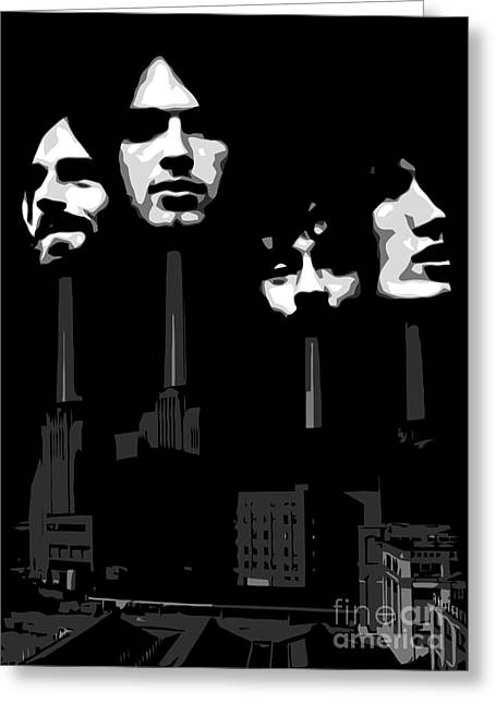 Photomonatage Digital Greeting Cards - Pink Floyd No.02 Greeting Card by Caio Caldas
