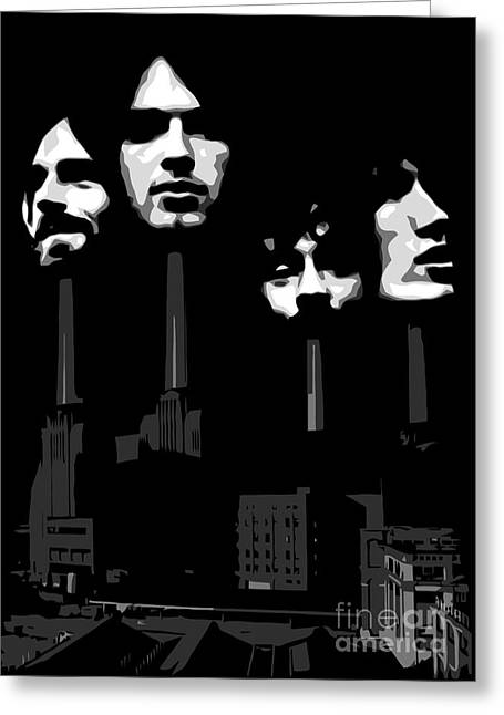 Rock Guitar Player Greeting Cards - Pink Floyd No.02 Greeting Card by Caio Caldas