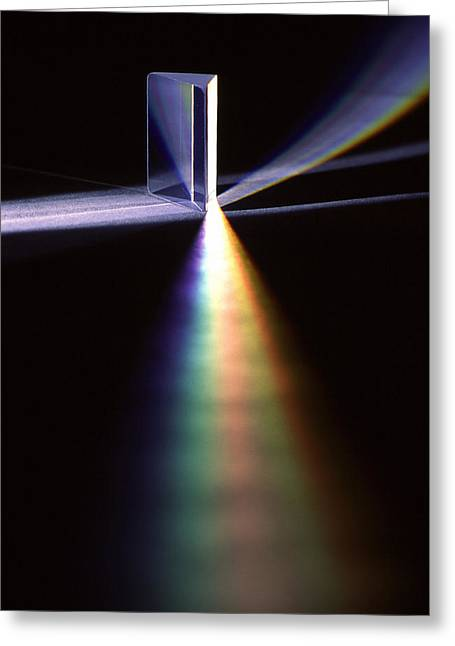 Color Spectrum Greeting Cards - Pink Floyd Physics Greeting Card by Gerard Fritz