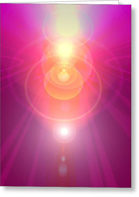 Seraphim Angel Digital Art Greeting Cards - Pink Guardian-Angel Greeting Card by Ramon Labusch