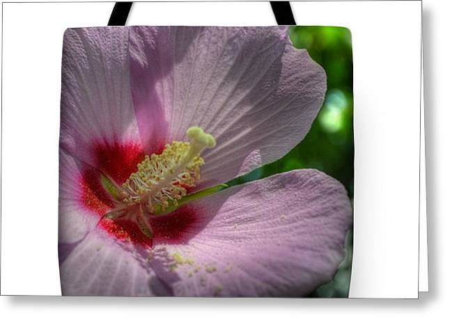 Purchase Greeting Cards - Pink Hibiscus Tote Bag Greeting Card by Linda Covino