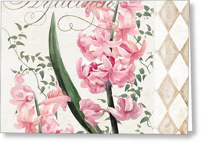 Hyacinth Greeting Cards - Pink Hyacinth Greeting Card by Mindy Sommers