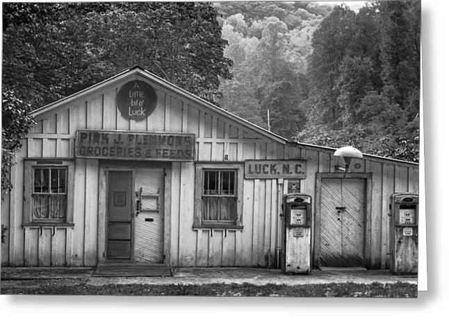 Pink J Plemmons Groceries And Feeds - Luck North Carolina Greeting Card by Matt Plyler