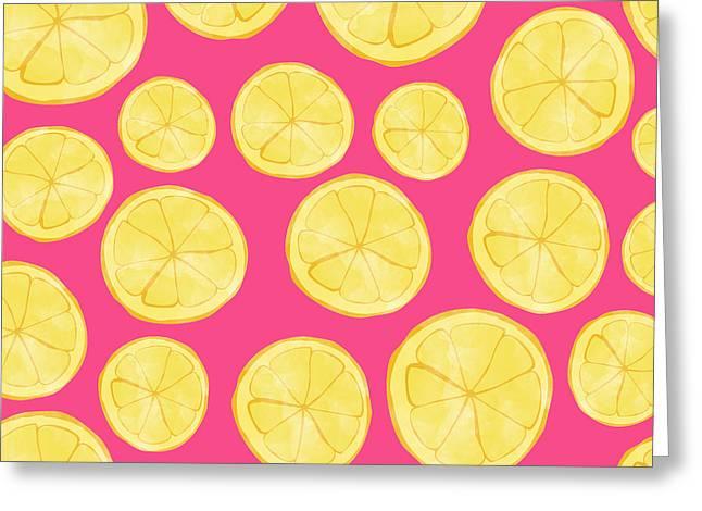 Pink Lemonade Greeting Card by Allyson Johnson
