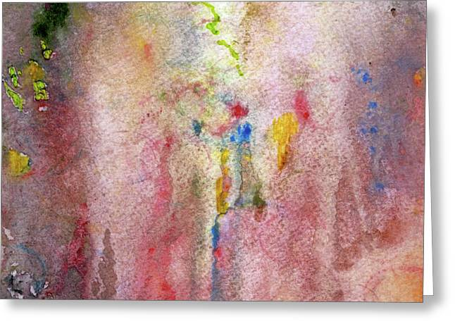 Pink Mist Greeting Card by Mary Zimmerman