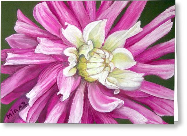 Aster Pastels Greeting Cards - Pink Petal Blast Greeting Card by Minaz Jantz