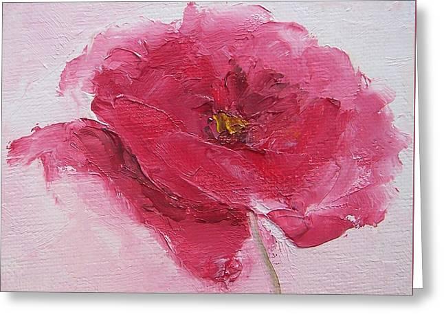 Print Greeting Cards - Pink Poppy Greeting Card by Jan Matson