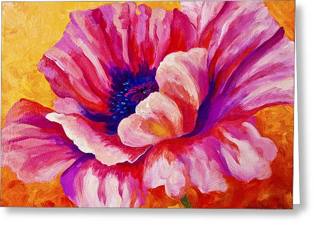 Path Greeting Cards - Pink Poppy Greeting Card by Marion Rose