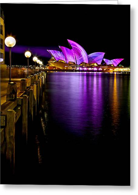 Vivid Colour Photographs Greeting Cards - Pink Projections Greeting Card by Az Jackson