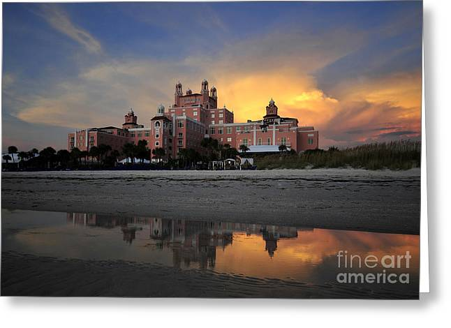 Thunderstorm Greeting Cards - Pink reflections Greeting Card by David Lee Thompson