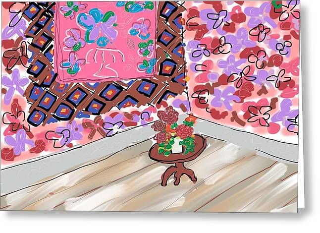 Interior Still Life Digital Greeting Cards - Pink room  Greeting Card by Gregory Egan