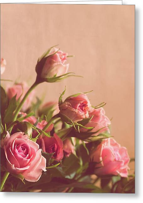 Pink Roses Greeting Card by Wim Lanclus